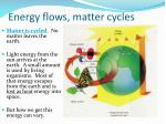 energy flows matter cycles1