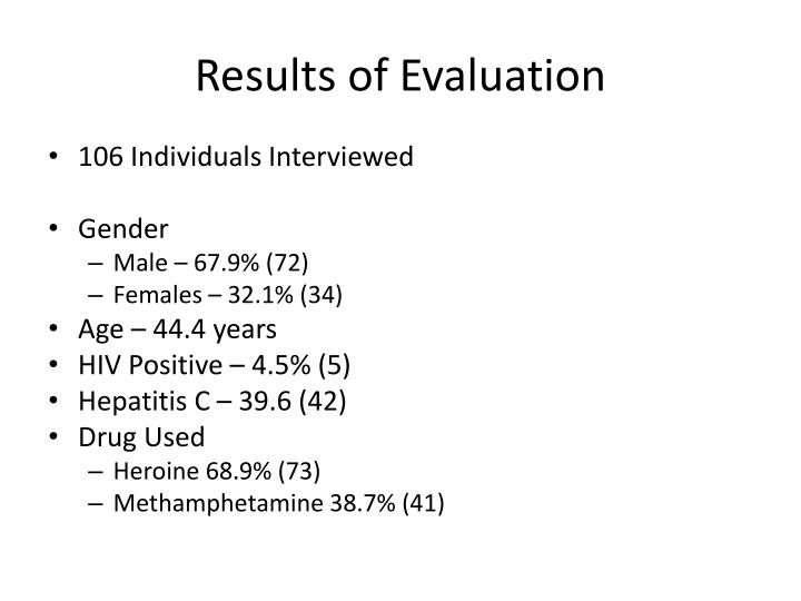 Results of Evaluation