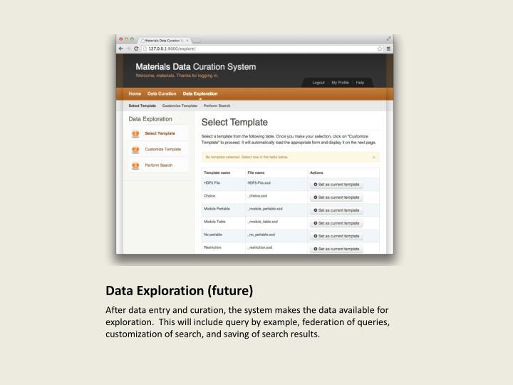 Data Exploration (future)