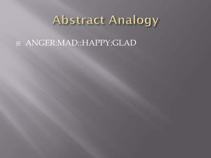Abstract Analogy