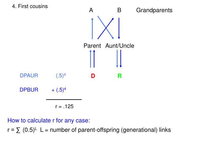 4. First cousins