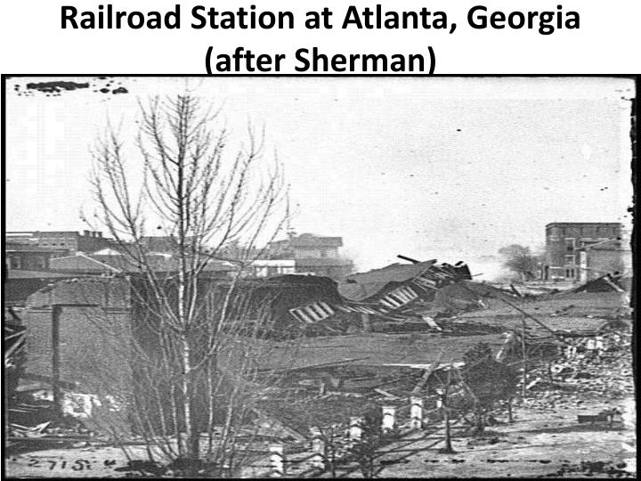 Railroad Station at Atlanta, Georgia (after Sherman)