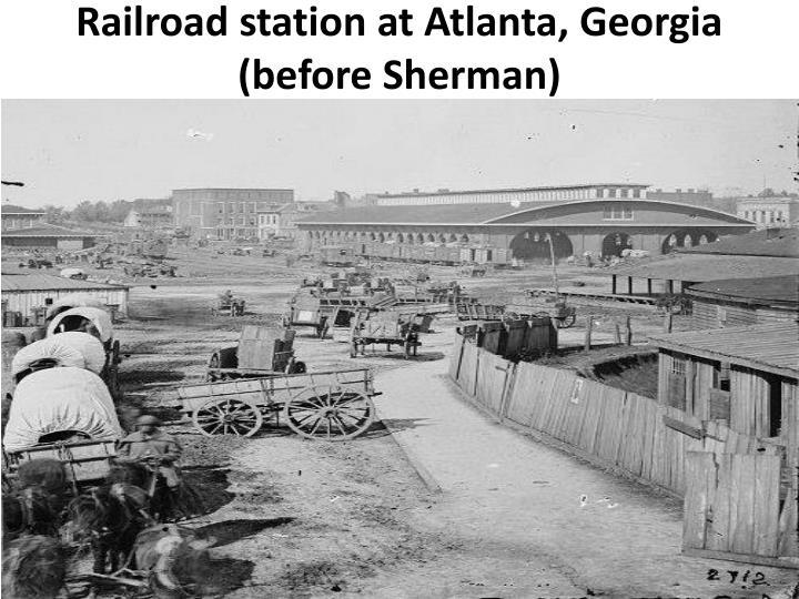 Railroad station at Atlanta, Georgia (before Sherman)