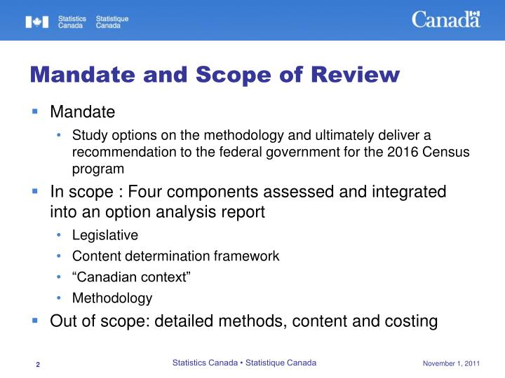 Mandate and scope of review