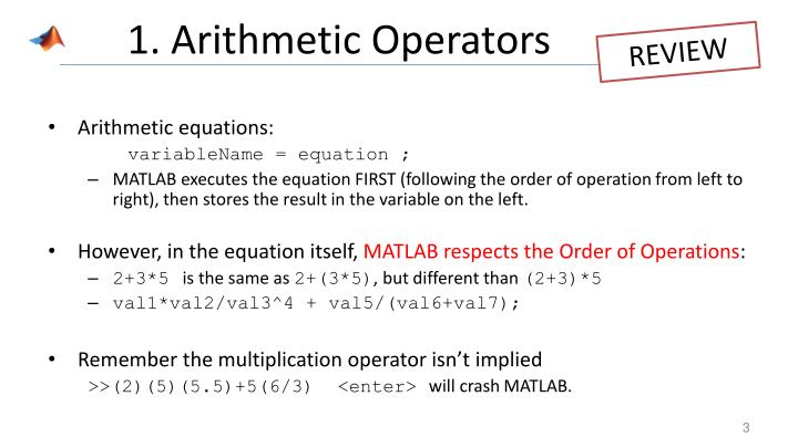 1 arithmetic operators
