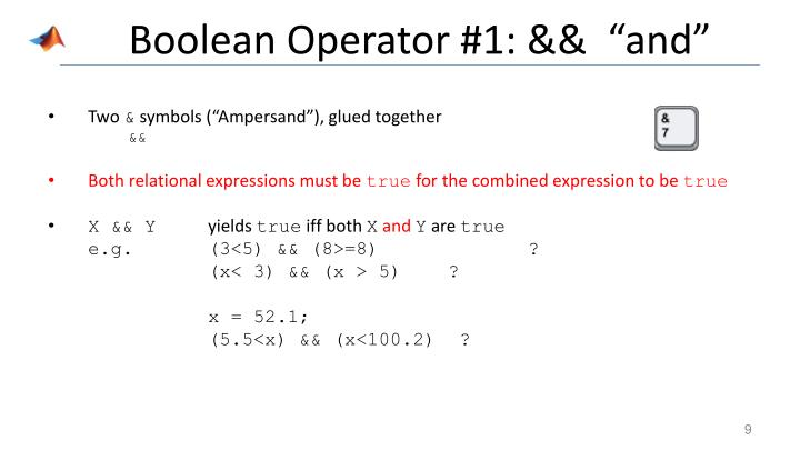 "Boolean Operator #1: &&  ""and"""