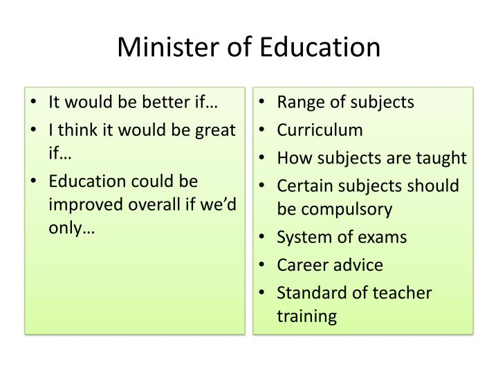 Minister of Education