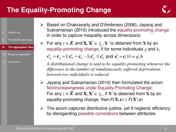 The Equality-Promoting Change