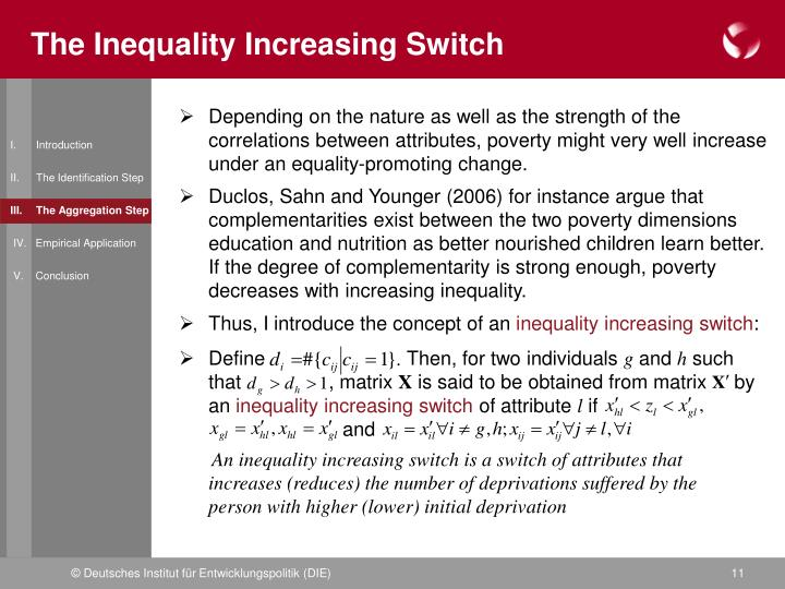 The Inequality Increasing Switch