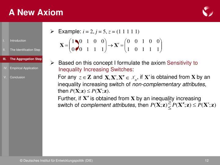 A New Axiom