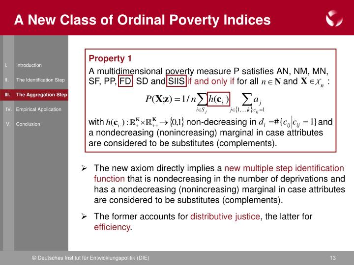A New Class of Ordinal Poverty Indices