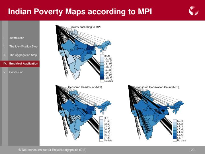 Indian Poverty Maps according to MPI