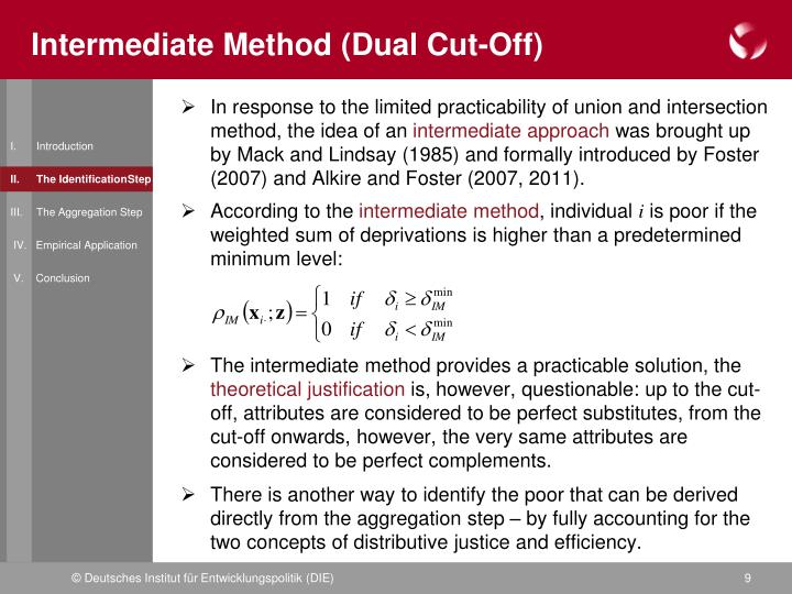 Intermediate Method (Dual Cut-Off)