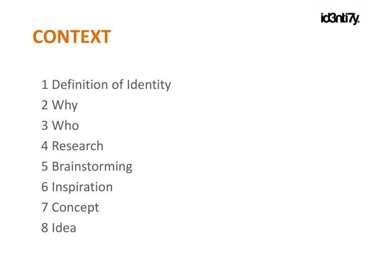 1 Definition of Identity