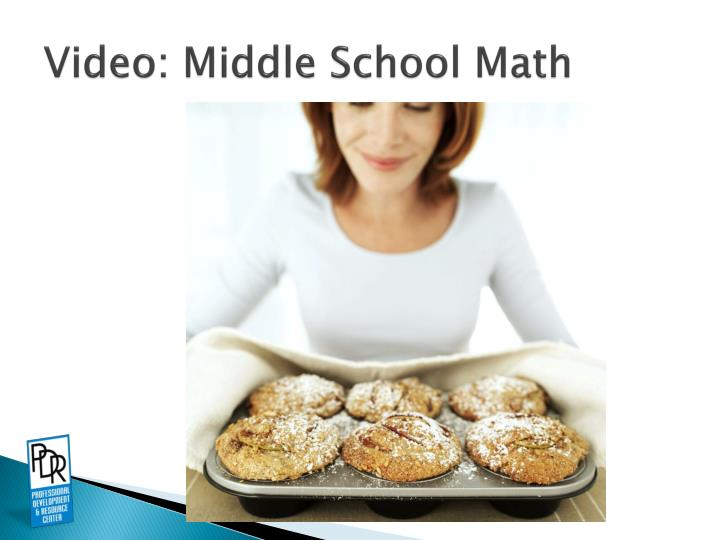 Video: Middle School Math