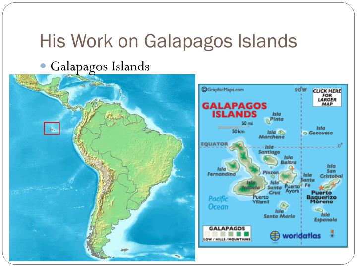 His Work on Galapagos Islands