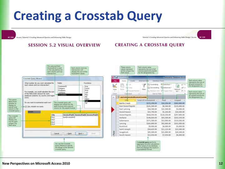 Creating a Crosstab Query