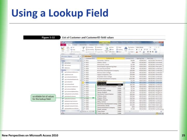 Using a Lookup Field