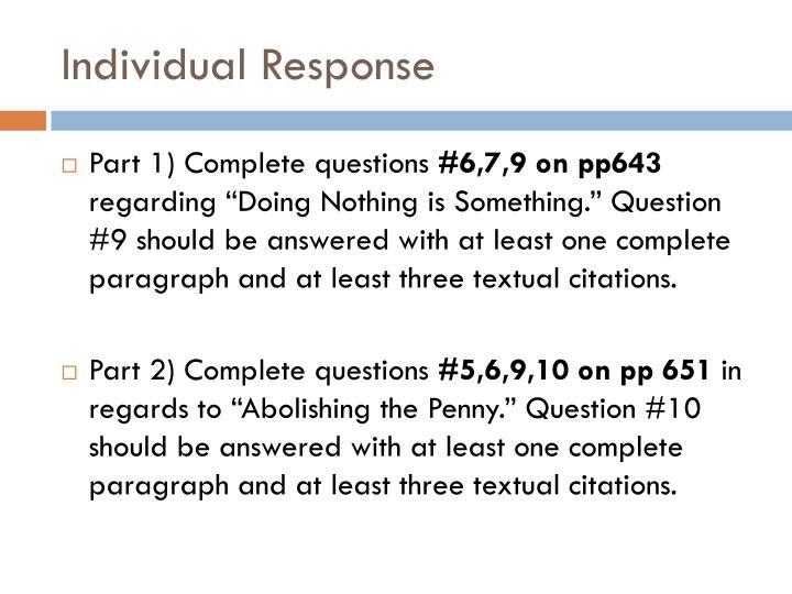 Individual Response