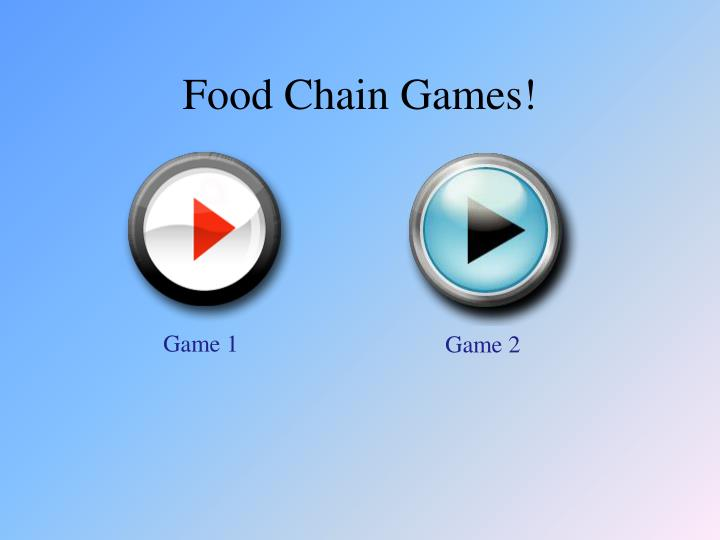 Food Chain Games!