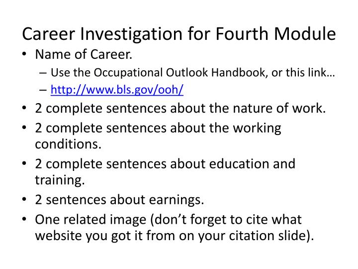 Career Investigation for