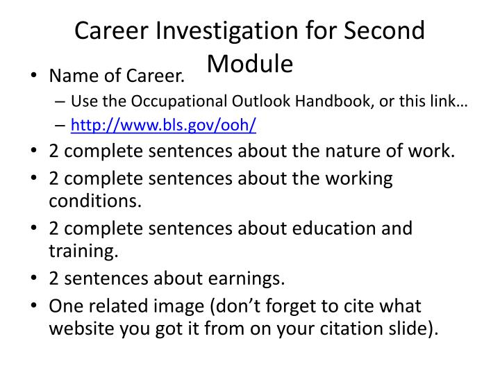 Career Investigation