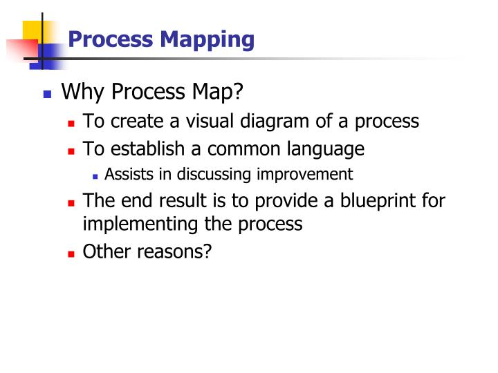 Process mapping1