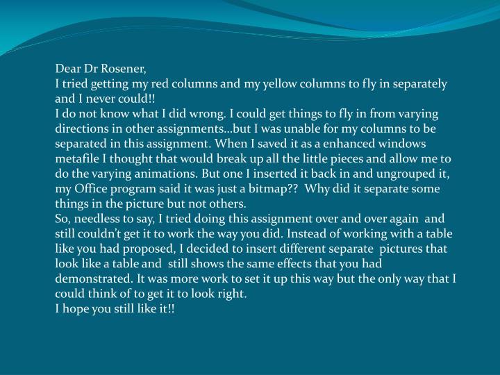 Dear Dr