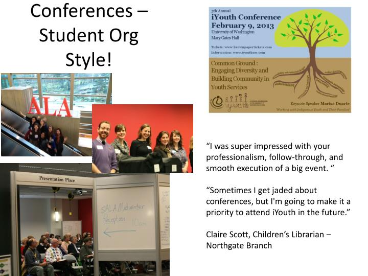 Conferences – Student Org Style!