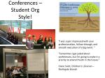 conferences student org style