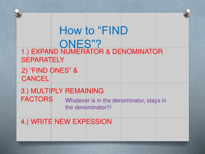 """How to """"FIND ONES""""?"""