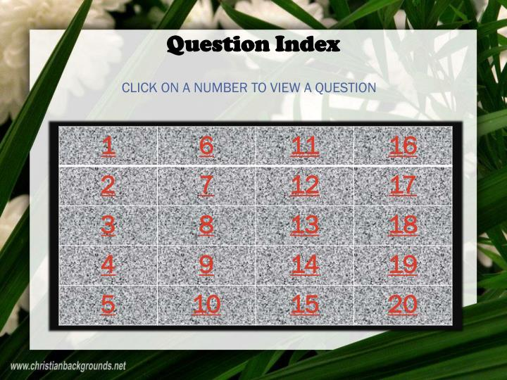 Question Index