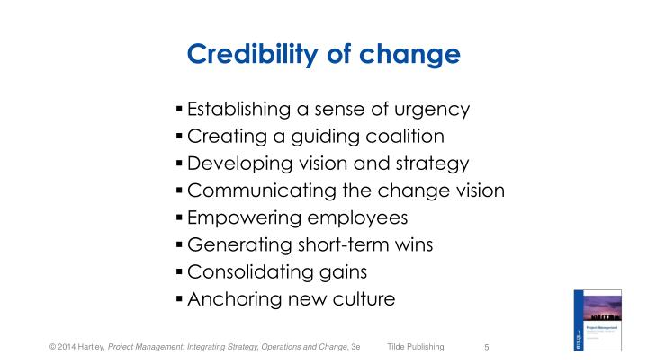 Credibility of change