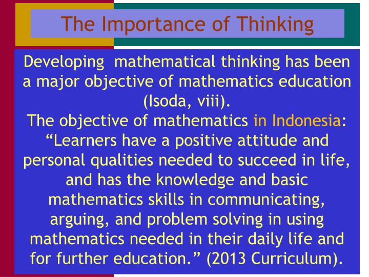 The Importance of Thinking