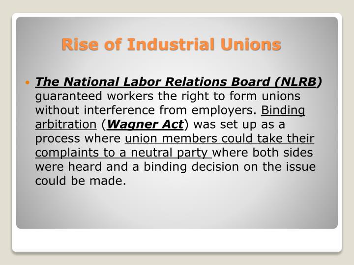 The National Labor Relations Board (NLRB