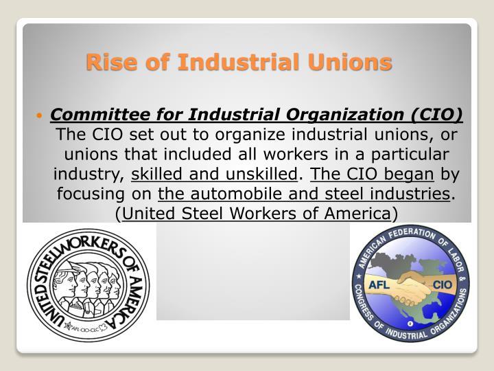 Committee for Industrial Organization (CIO)