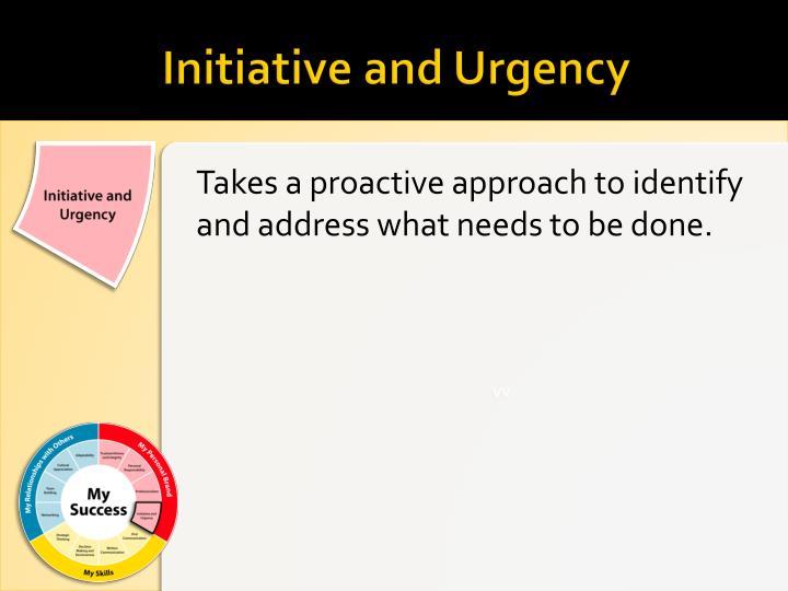 Initiative and Urgency