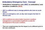 ambulatory emergency care concept