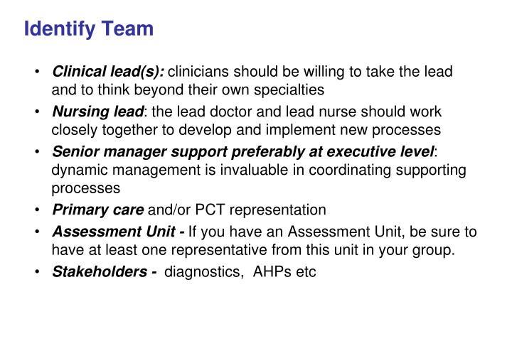 Identify Team
