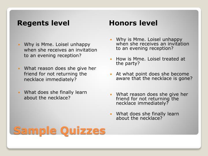 Regents level
