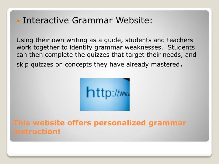 Interactive Grammar Website: