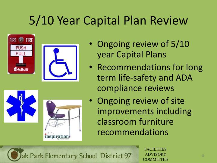 5/10 Year Capital Plan Review