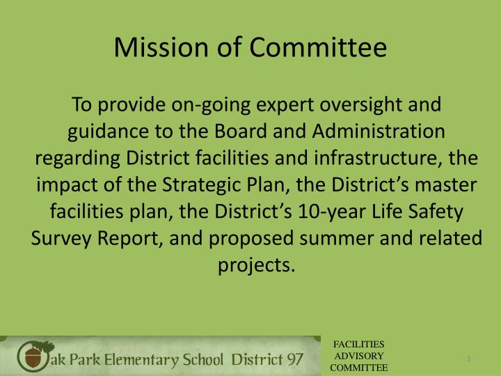 Mission of Committee