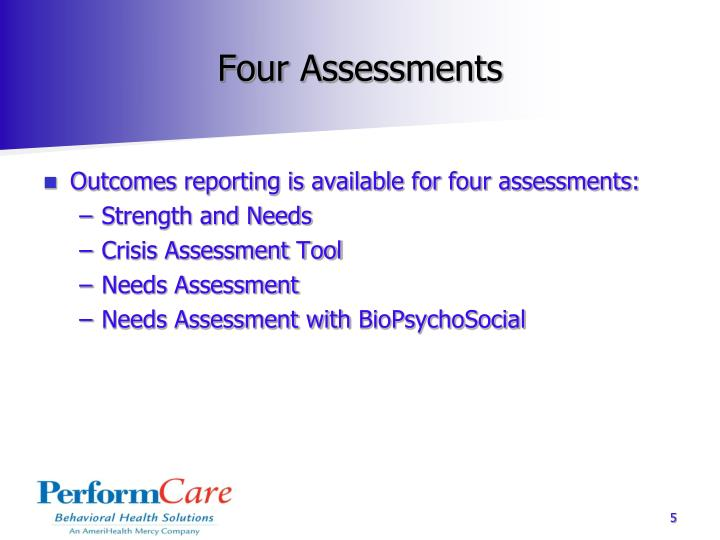 Four Assessments
