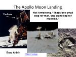 the apollo moon landing
