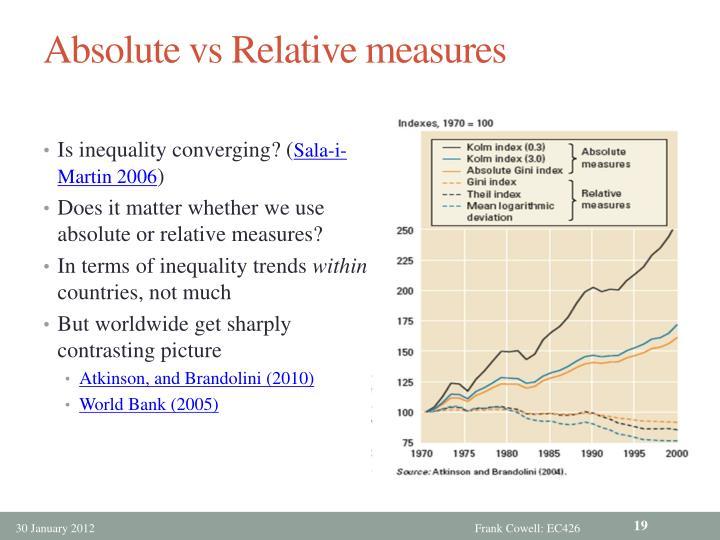 Absolute vs Relative measures