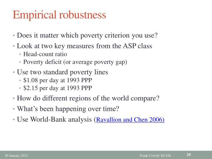 Empirical robustness