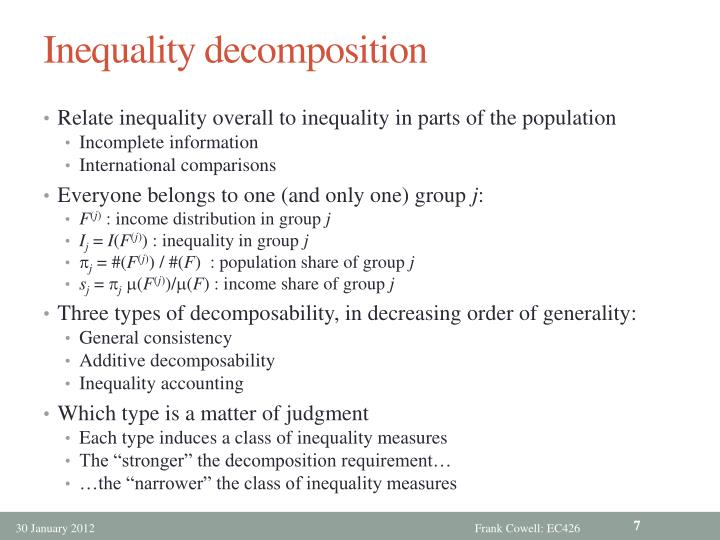 Inequality decomposition