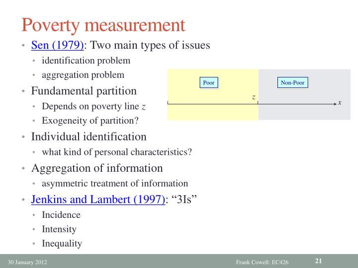 Poverty measurement