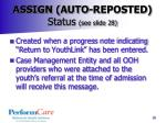 assign auto reposted status see slide 28